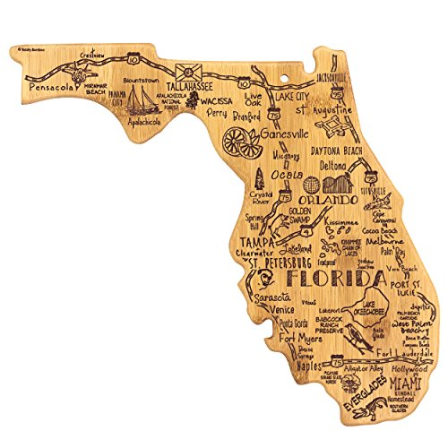 Totally Bamboo Florida State Destination Bamboo Serving and Cutting Board (Best Gifts From Florida)