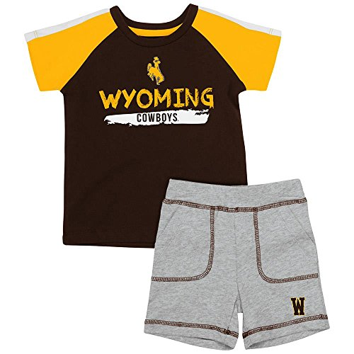 Infant Wyoming Cowboys Tee Shirt and Shorts Set - 6 to 12 Months