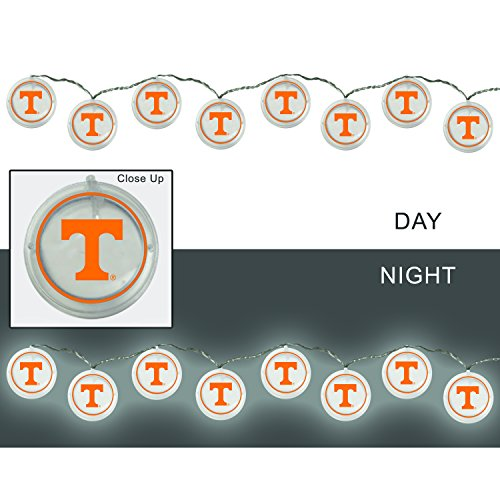 Tennessee String (Team Sports America University of Tennessee Outdoor Safe Battery Powered String Light Set)