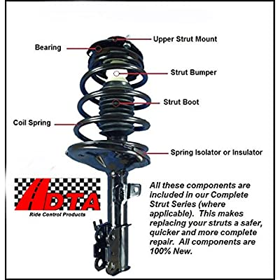 DTA 60148 Rear Complete Strut Assemblies With Springs and Mounts Ready to Install OE Replacement -2-pc Pair Fits Honda Element: Automotive