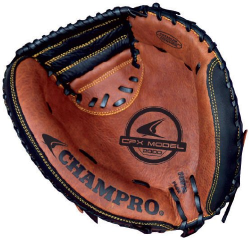 Champro FR Catcher Mitt (Black/Tan, 33.5-Inch) by CHAMPRO