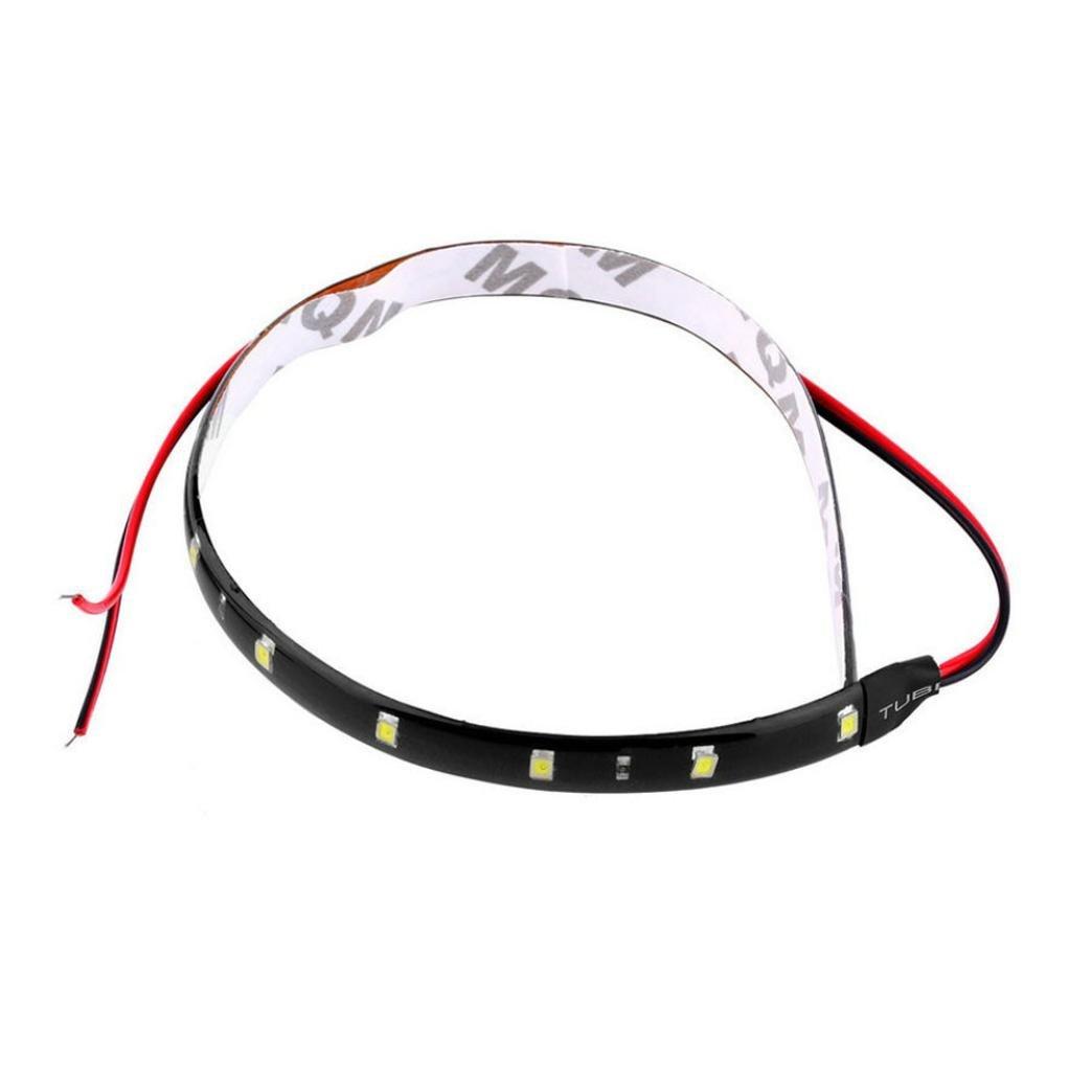 wuayi Turn Signal License Plate Car Auto Motorcycle Waterproof Strip Lamp Flexible Light 30cm 12V 15 LED