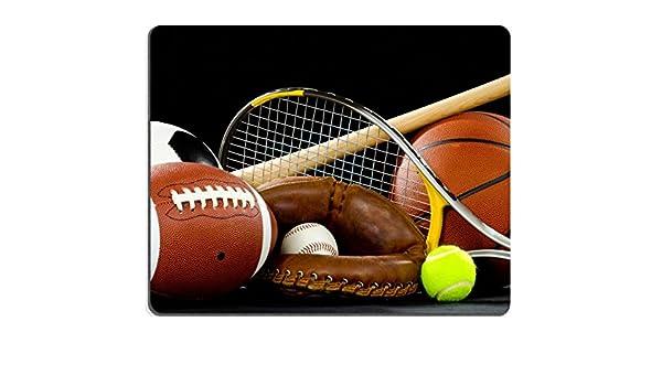 luxlady Gaming Mousepad una variedad de equipos de deportes en un ...