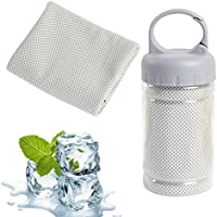 Omenu Cooling Towel Ice Towel Alfamo Cooling Towel for Sports, Workout, Fitness, Gym, Yoga, Pilates, Travel, Camping & More