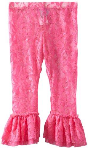 Mud Pie Baby Girls' Lace Legging, Hot Pink, 12 18 Months