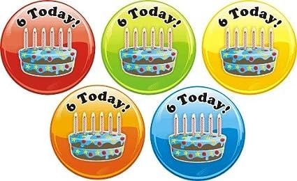 Marvelous Happy 6Th Birthday Cake Praise Stickers Amazon Co Uk Office Products Personalised Birthday Cards Veneteletsinfo