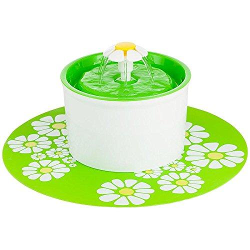 dfihei Flower Sytle 1.6L électrique automatique Pet Fontaine d'eau chien/chat boire