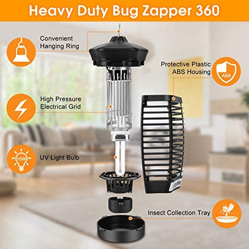 ZAAPTOL Bug Zapper & Attractant – Electric Mosquito Zappers/Killer – Insect Fly Trap, Waterproof Outdoor/Indoor – Electronic Light Bulb Lamp for Backyard, Patio 51MBNI5ZfpL