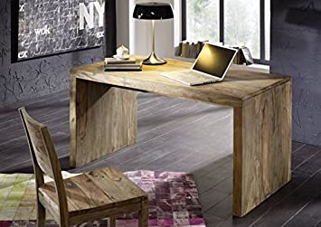 Bureau bois massif de palissandre huilé nature grey #710