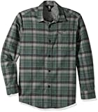 Volcom Big Boys' Caden Flannel Long Sleeve Button up Shirt, Evergreen, S