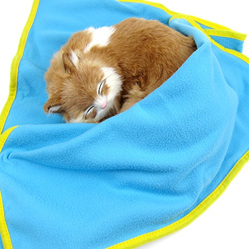 Alfie Pet by Petoga Couture - Harper Fleece Blanket for Dogs and Cats - Color: Blue