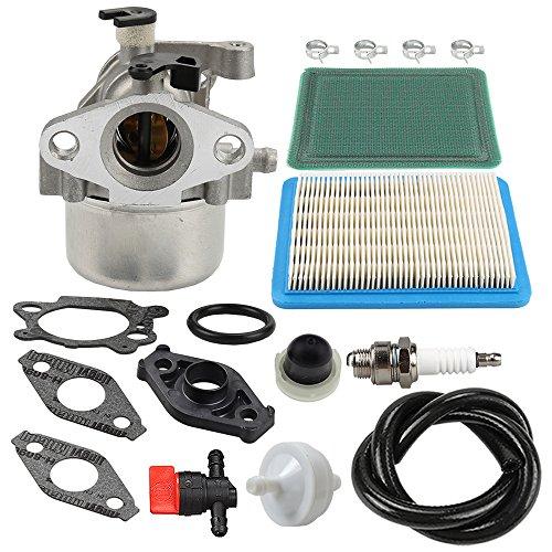 - HIPA MIA11798 Carburetor + Air Filter Tune Up Kit for John Deere JS20 JS25 JS26 JS28 JS30 JS36 JS38 JM26 JM36 Mowmentum Walk-Behind Lawn Mower