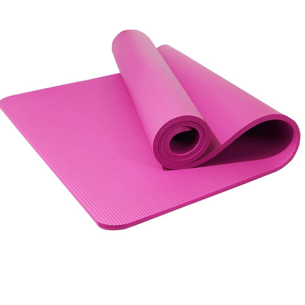 Estera de Yoga Engrosamiento para Principiantes ensanchó la Estera de Yoga Antideslizante para Hombres de Deportes de Estera Larga de Yoga 3 Sets FIOFE