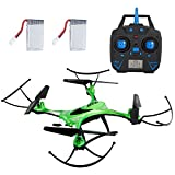 #10: SGILE RC Quadcopter Gyro Drone Xmas Gift Toy with 360 Rotating Headless Mode Altitude Hold Mode for Beginners Kids Boys Girls Indoor or Outdoor Green