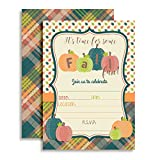 Fun Fall Pumpkin Party Invitations, 20 5''x7'' Fill in Cards with Twenty White Envelopes by AmandaCreation
