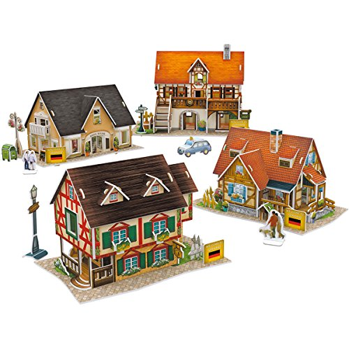 CubicFun World Architectural House Building Model kits 3D Puzzle,Germany,W3189h 181 Pieces