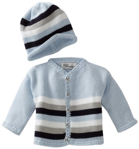 Gita Accessories Baby-Boys Newborn Sweater And Hat Set