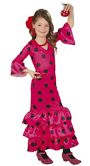 Guirca - Disfraz Andaluza, talla 3-4 años, color rosa (83168 ...