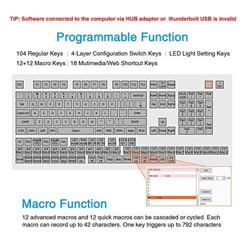 Koolertron One Handed Macro Mechanical Keyboard, Portable Mini One-Handed  Mechanical Gaming Keypad 23 Fully Programmable Keys (Blue Switches (Blue