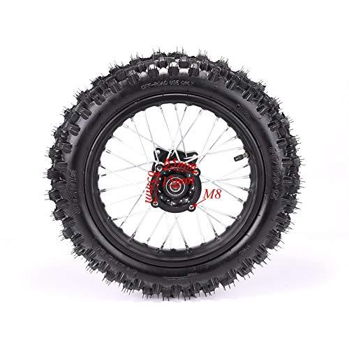 Rear 1.8512 80/100-12 Tire Rim Set Disc Brake 12mm Axle Pitpro Atomik DHZ by HML MOTOR (Image #1)