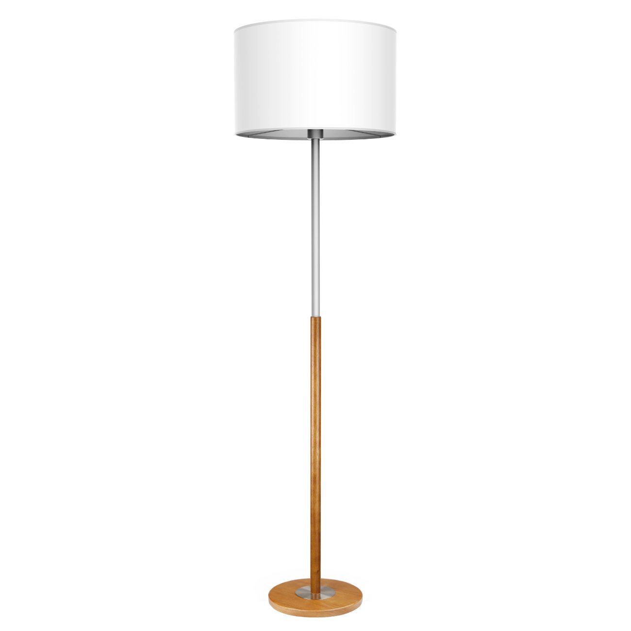 1f2d8962833f Wood Floor Lamp Tomons Standing Lamp for Bedrooms Living Room Decor with  Fabric Lampshade Brown Wood Base Warm White Lighting, 8W LED Bulb Included  ...