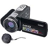 ビデオカメラデジタルカメラフルHD 18Xデジタルズームナイトビジョンビデオカムコーダー、液晶と270度の回転画面リモートコントロール付き