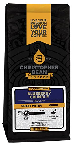 (Blueberry Crumble Flavored Ground Coffee 12 Ounce Bag)
