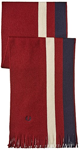 Fred-Perry-Mens-Wrap-Knit-Scarf-Maroon