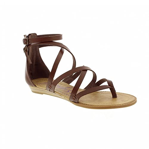 ce5b74437 Blowfish Bungalow - Whiskey (Brown) Womens Sandals 5.5 US  Amazon.ca ...