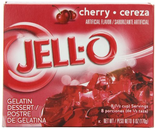JELL-O Cherry Avengers Gelatin Dessert Mix (6 oz Boxes, Pack of 24)