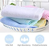 """Yoofoss Washcloths Bamboo Face Towel Hand Cloth Set 10-Pack for Bathroom-Hotel-Spa-Kitchen Multi-Purpose, Ultra Soft, Absorbent, 12"""" x"""