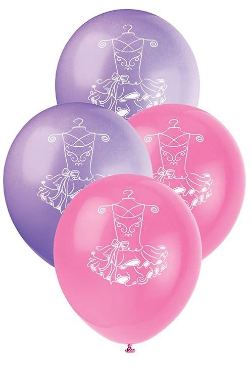Unique Party Globos de Látex Fiesta de Bailarina, 8 Unidades, Color Rosa (49495): Amazon.es: Juguetes y juegos