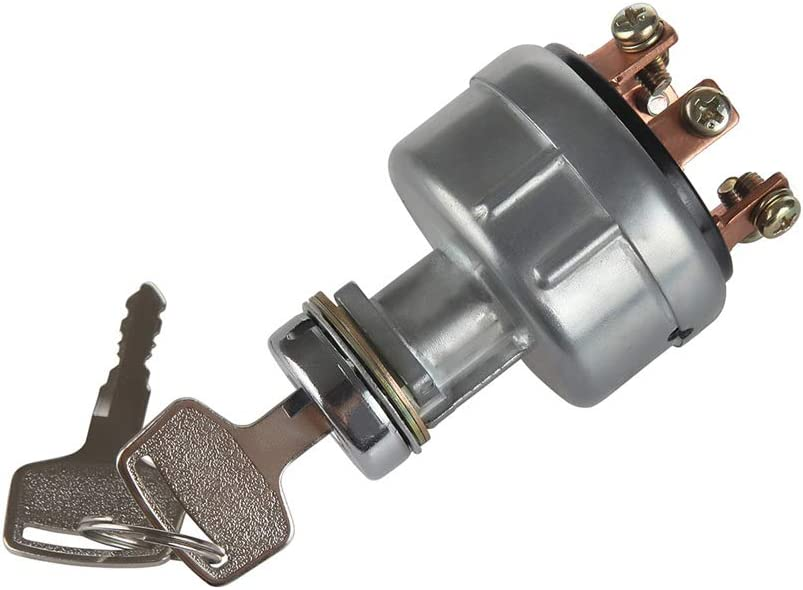 LARBI Ignition Switch With 4 Position 6 Terminal Wire Digger 2 Keys Suit for Kobelco Ford 3400 Kubota International Harvester Mitsubishi Tractor,Trailer,Caterpillar,Agricultura, Plant Applications