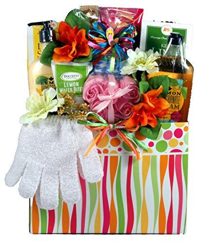 Citrus Wave, Spa Gift Basket for Her - Spoil Her With A Luxury Spa Gift Basket That Includes Tropical Lotions and Tropical Flavored Treats ()