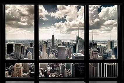 Amazon.com: New York Window Poster Art Print: Nyc Poster: Posters ...