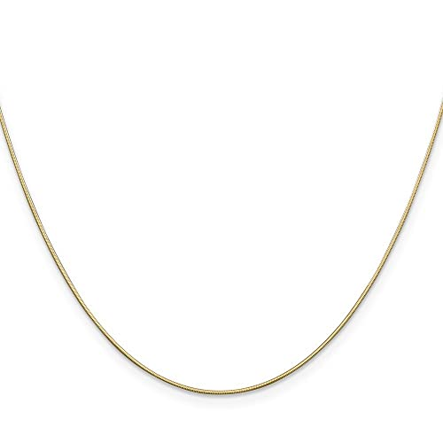 Jewelry & Watches 14k Yellow Gold 0.80mm Octagonal Snake Link Anklet Bracelet