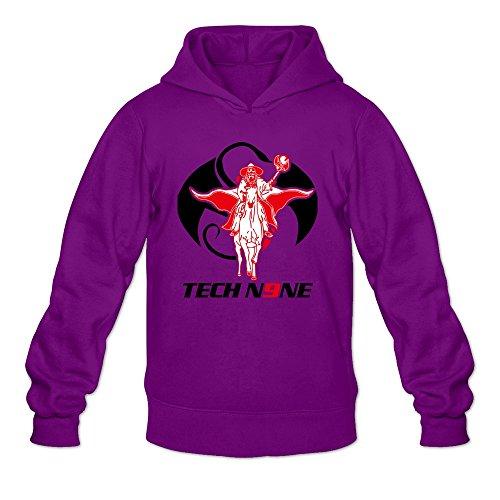 Men's Tech N9ne Logo Hoodies L Purple (Tech N9ne Jersey)