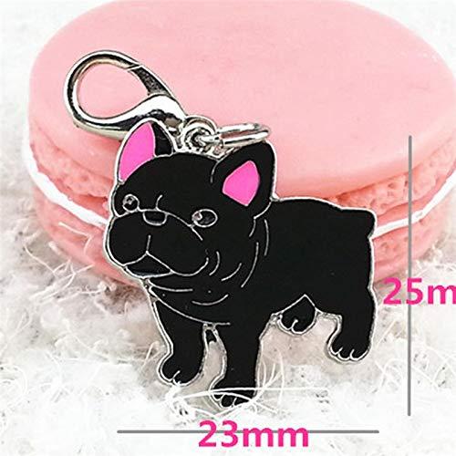 Necklace Children - Mini Black Bulldog Pet Cat Dog Pendant Tags Jewelry Alloy Tag Disc Disk Id Enamel Collar Necklace - Chandelier Necklace Children Little Names Girls Birthstones Fixtures Light