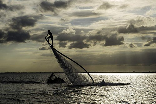 Bayside Flyboard Experience 15 min in Miami for Two - Tinggly Voucher / Gift Card in a Gift - Bayside Miami