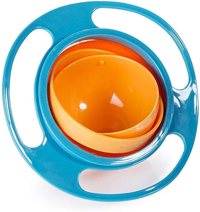 Naisidier 360/forma Niedliche bambini rotazione ciotola girevole ciotola Gyro Bowl per Bambini cibo rosso