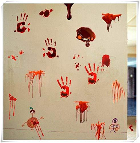 Halloween Bloody Handprint Wall Sticker, Terror Wall Sticker]()