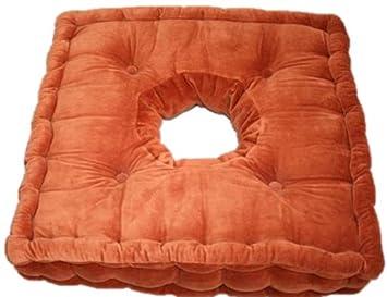 Homescapes FauteuilPur DouxCouleur Rehausseur 10cmConfort Chaise Pour Coussin Et X Coton 50 Supérieure50 Velour Ultra Ou Orange Qualite roedCxBW