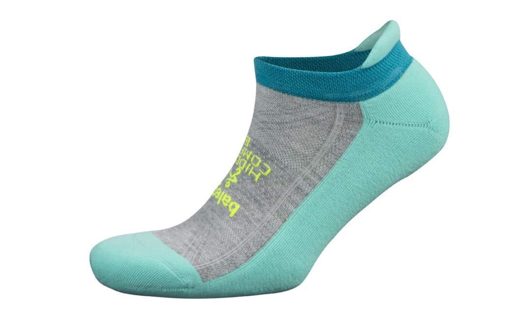 Balega Hidden Comfort No Show Socks for Men and Women (1 Pair), Light Aqua/Mid Grey, Small by Balega