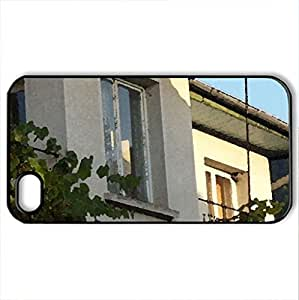House - Case Cover for iPhone 4 and 4s (Houses Series, Watercolor style, Black)