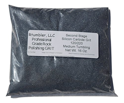 Rock Tumbler Grit for 15 pound Tumbler With 1 Pound Plastic Buffering Pellets by RTumbler Professional Grade Rock Polishing Grit (Image #2)