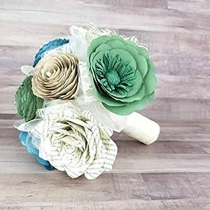 Paper Flower Wedding Bouquet 75
