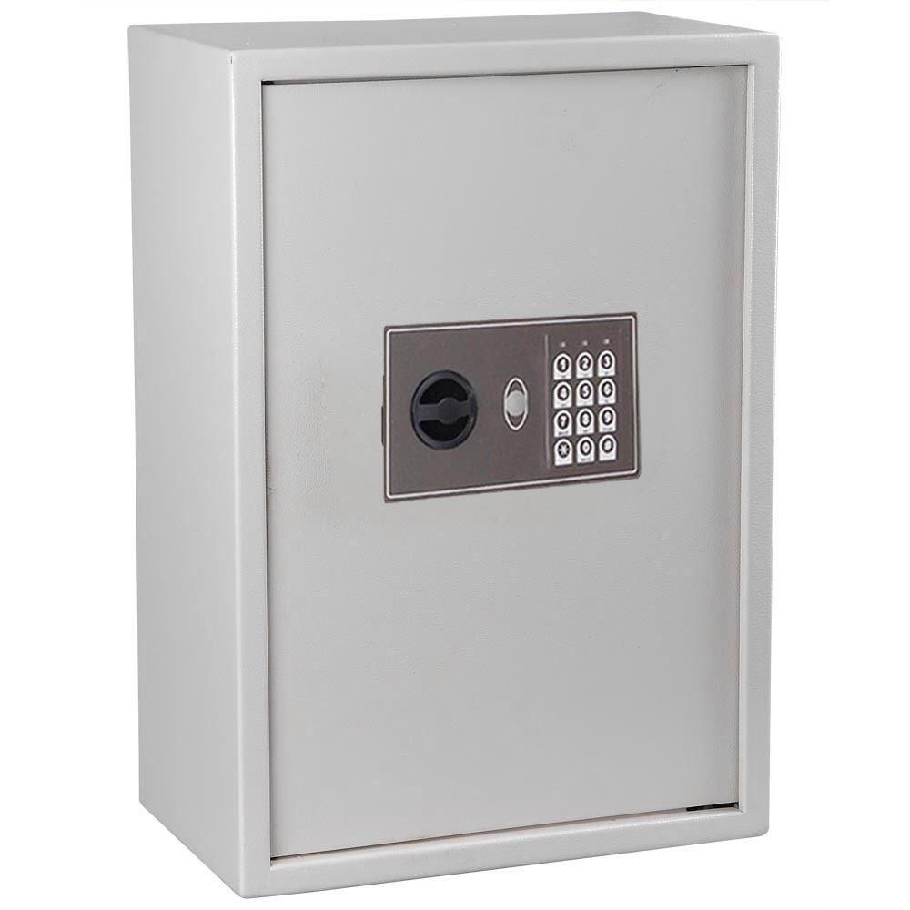 TRIPREL INC. WHITE Electronic Digital Wall Mount Safe 245Key Security Box Storage Cabinet Store Spa