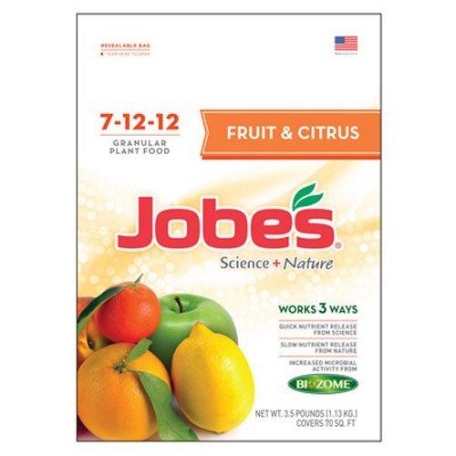 Jobe's Fruit & Citrus Fertilizer, Science + Nature Granular Fertilizer for All Fruit Trees, 3.5 pound bag -