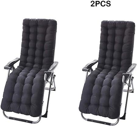 2 cojines para tumbonas, cojines para tumbonas, para exteriores, jardín, tumbona reclinable, para interiores, negro, 53*170cm: Amazon.es: Hogar