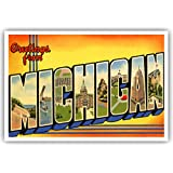 Amazon greetings from ann arbor michigan scenic postcard greetings from michigan vintage reprint postcard set of 20 identical postcards large letter us state m4hsunfo Images